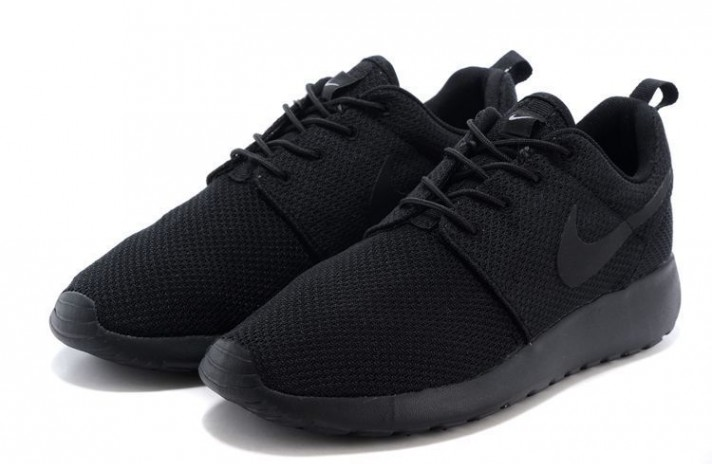 Nike Roshe Run Black Full черные, фото 2