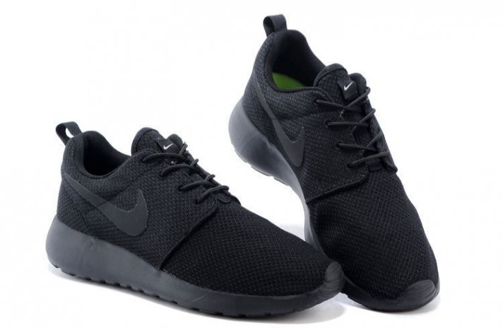 Nike Roshe Run Black Full черные, фото 3