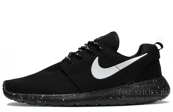 Nike Roshe Run Dual Black Oreo White черные