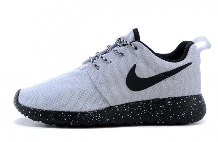 Nike Roshe Run ID Black White Oreo белые