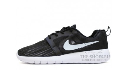 Nike Roshe Run Flight Weight Black White