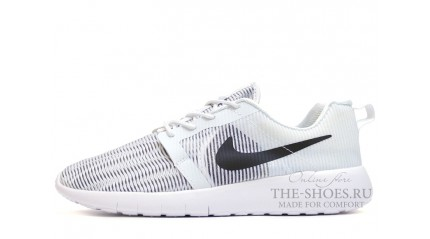 Nike Roshe Run Flight Weight White Black