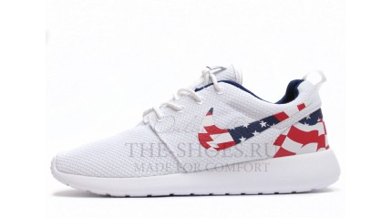 Roshe Run КРОССОВКИ МУЖСКИЕ<br/> NIKE ROSHE RUN USA PURE WHITE