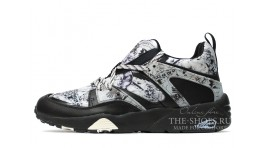 Puma Trinomic Blaze Marble Swash London Gray Black черные серые