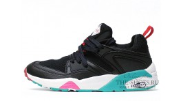 Puma Trinomic Blaze Marble Black White Mint черные