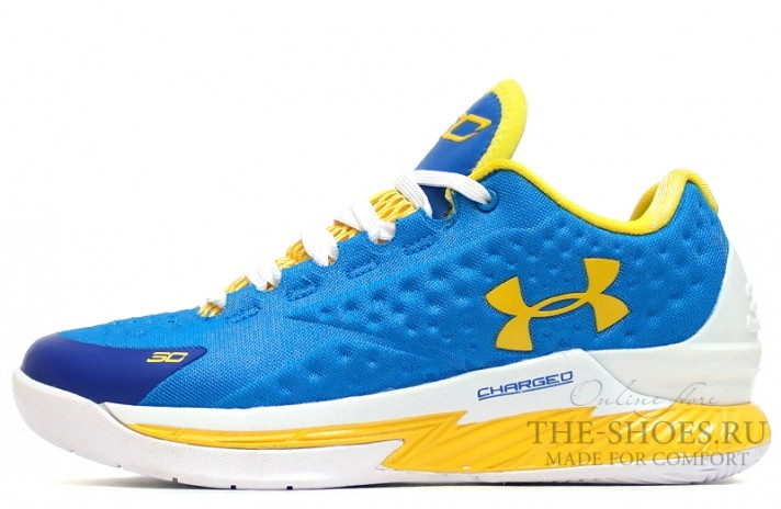 Under Armour Curry 1 Low Home Blue Yellow синие