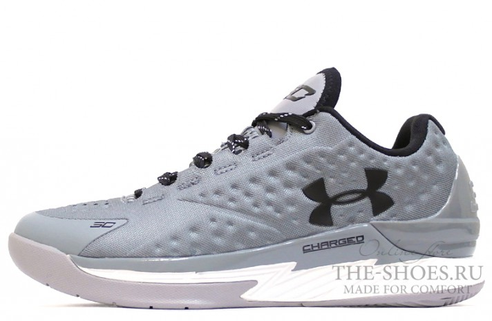 Under Armour Curry 1 Low Two A Days Silver серые