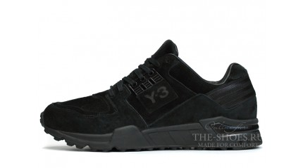 Equipment КРОССОВКИ МУЖСКИЕ<br/> ADIDAS Y-3 VERN ALL BLACK SUEDE