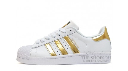 Adidas SuperStar Pure White Gold