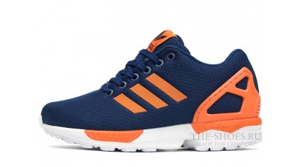 ZX КРОССОВКИ МУЖСКИЕ<br/> ADIDAS ZX FLUX BLUE NAVY ORANGE WHITE
