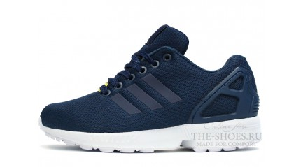 ZX КРОССОВКИ МУЖСКИЕ<br/> ADIDAS ZX FLUX DARK BLUE WHITE