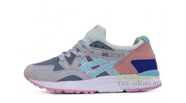 Asics Gel LYTE 5 Grey Coral White Blue серые