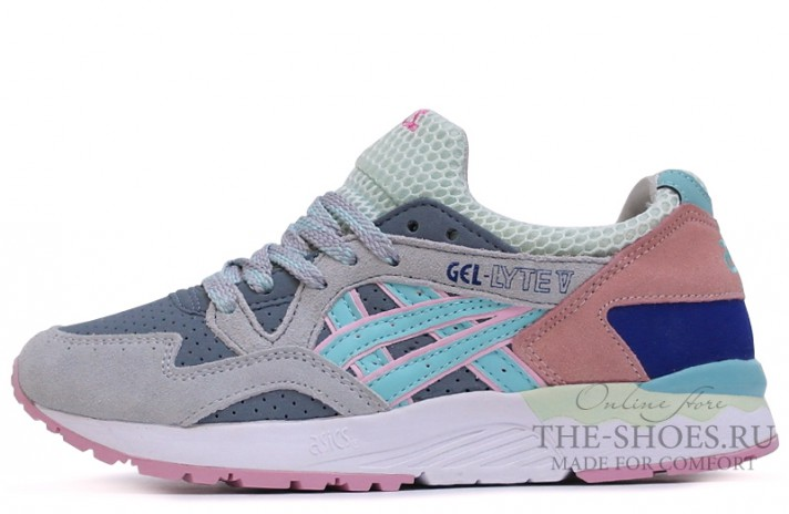 Кроссовки Asics Gel LYTE 5 Grey Coral White Blue