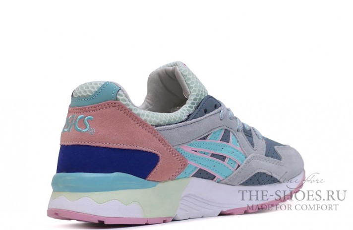 Asics Gel LYTE 5 Grey Coral White Blue серые, фото 3