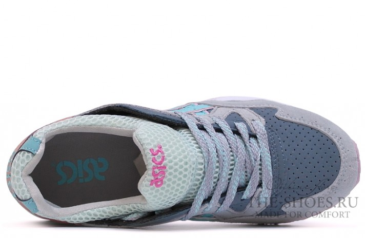 Asics Gel LYTE 5 Grey Coral White Blue серые, фото 4
