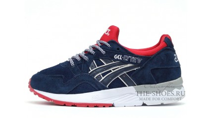 Asics Gel LYTE 5 Navy Blue Red White
