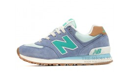 New Balance 574 ASF Mint Soft Purple White сиреневые синие