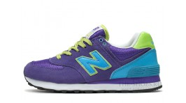 New Balance 574 Violet Acid Green Blue White фиолетовые