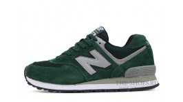 New Balance 574 NYC Green Gray White зеленые