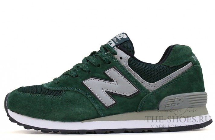 Кроссовки New Balance 574 NYC Green Gray White
