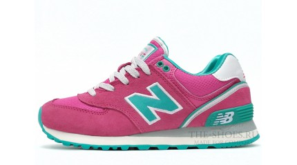 574 КРОССОВКИ ЖЕНСКИЕ<br/> NEW BALANCE 574 PINK TURQUOISE WHITE