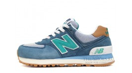 New Balance 574 Premium ASF Mint Blue White синие