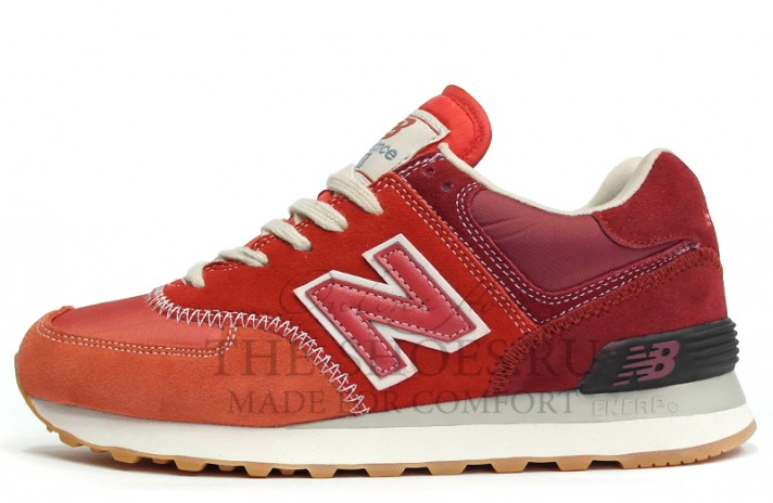New Balance 574 Retro Red White Gray красные
