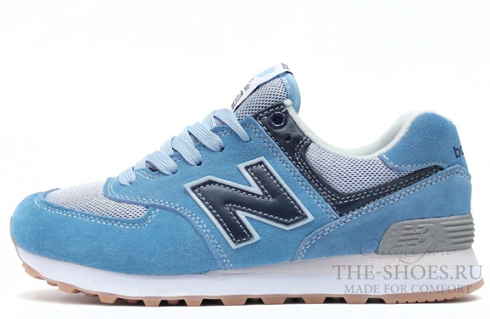 New Balance 574 Dual Blue Gray голубые, фото 1