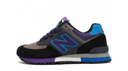 576 КРОССОВКИ МУЖСКИЕ<br/> NEW BALANCE 576 BLACK GRAY LILAC BLUE