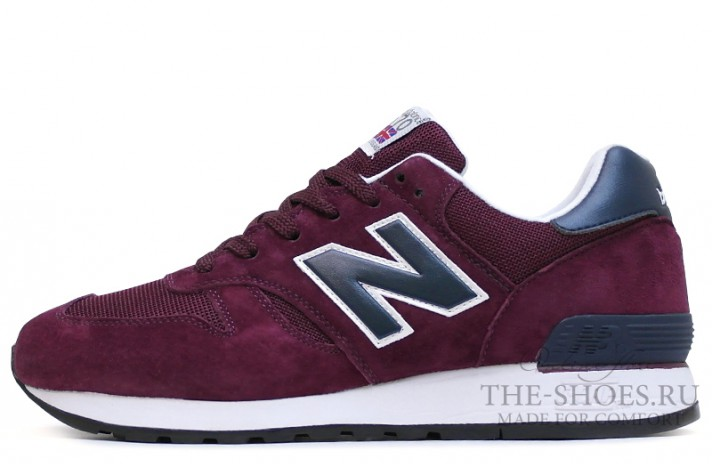 New Balance 670 Premium Purple Blue White бордовые