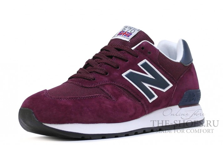 New Balance 670 Premium Purple Blue White бордовые, фото 4