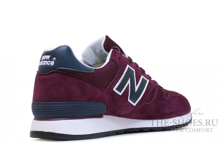 New Balance 670 Premium Purple Blue White бордовые, фото 3