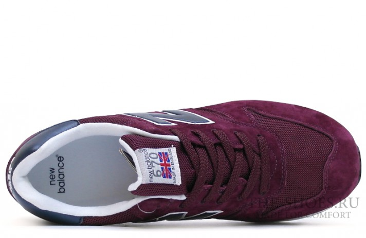 New Balance 670 Premium Purple Blue White бордовые, фото 2