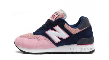 Кроссовки Женские New Balance 670 Baby Pink Dark Blue White