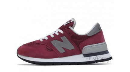 New Balance 990 Burgundy Grey White