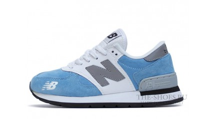 New Balance 990 Dual Gray Baby blue White