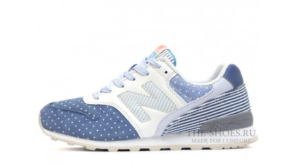 New Balance 996 Blue Line Peas White Gray