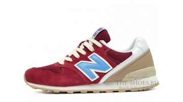 Кроссовки Женские New Balance 996 Cherry Blue Begie White