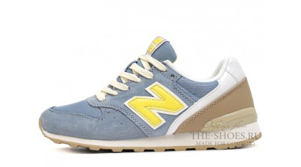 New Balance 996 Dim Blue Yellow beige White