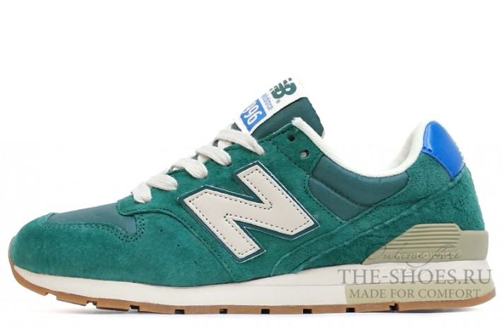 New Balance 996 Dim Green Beige White зеленые
