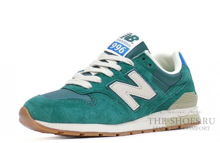 New Balance 996 Dim Green Beige White зеленые, фото 4