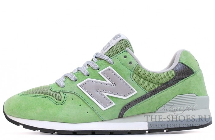 New Balance 996 Light Green Dual Grey зеленые