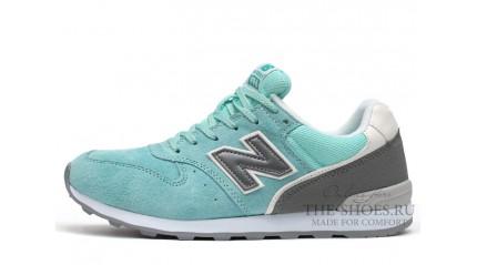 New Balance 996 Mint Dark Grey White
