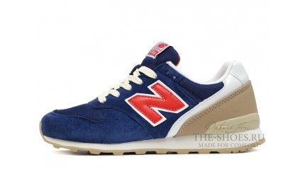 New Balance 996 Dark Blue Red Begie White