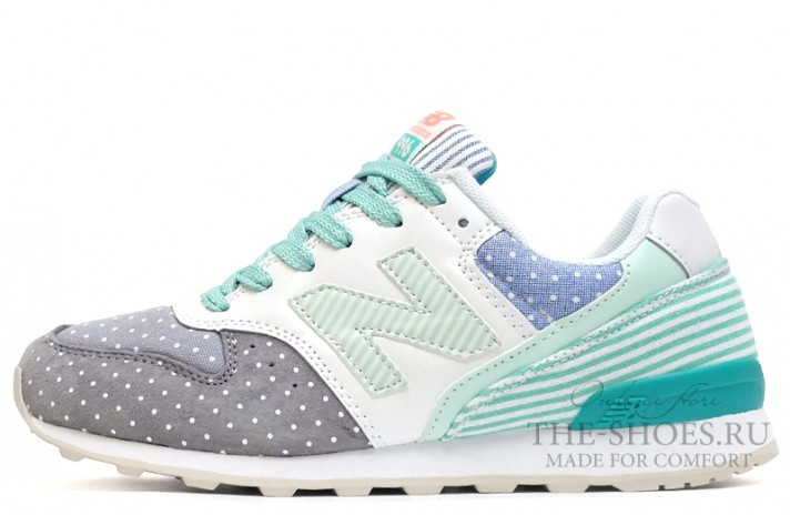 New Balance 996 Peas Grey Mint Line White разноцветные