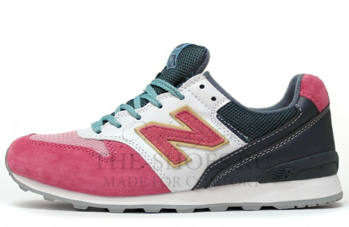 Кроссовки New Balance 996 Pink Wet Grey White