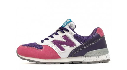 996 КРОССОВКИ ЖЕНСКИЕ<br/> NEW BALANCE 996 PINK PURPLE WHITE GRAY