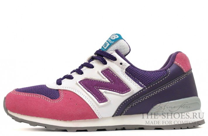 New Balance 996 Pink Shades Purple White Gray разноцветные, фото 1
