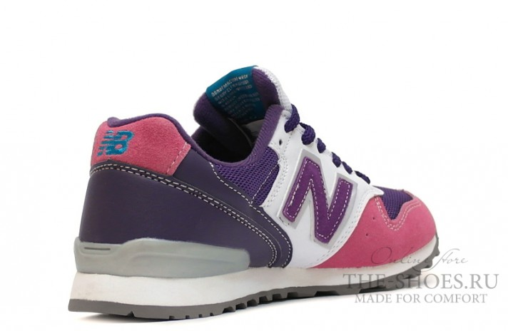 New Balance 996 Pink Shades Purple White Gray разноцветные, фото 3