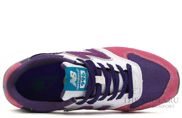 New Balance 996 Pink Shades Purple White Gray разноцветные, фото 4